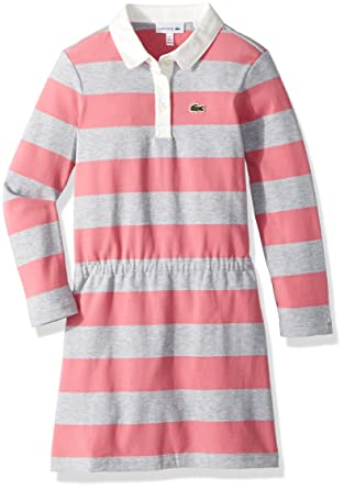 be69977a93e7 Amazon.com  Lacoste Little Girls  Long Sleeve Stripe Chine Polo ...