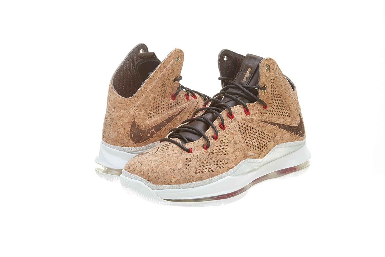 finest selection 4cab5 9e74e Amazon.com   Lebron X Ext Cork QS Men s Basketball Shoes Classic  Brown University Red Hazelnut   Shoes
