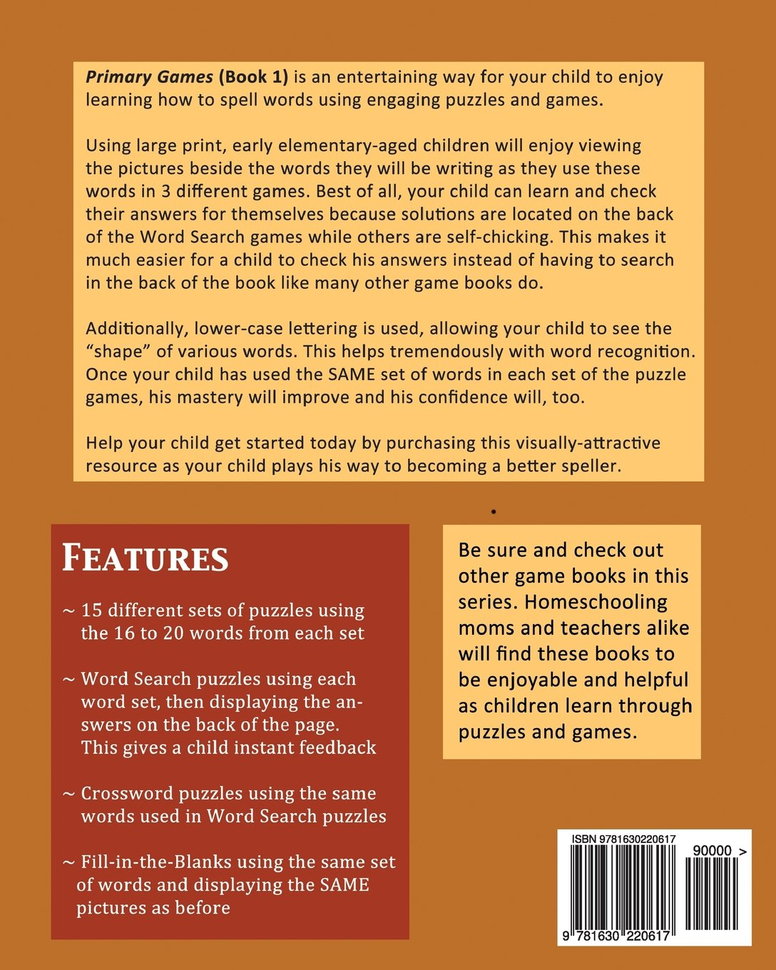 Game with shapes of different colors crossword - Primary Games Book 1 Crossword Puzzles Word Search And Fill In The Blanks Spelling Games For Elementary Ages 6 8 Volume 1 Carol Kidd 9781630220617