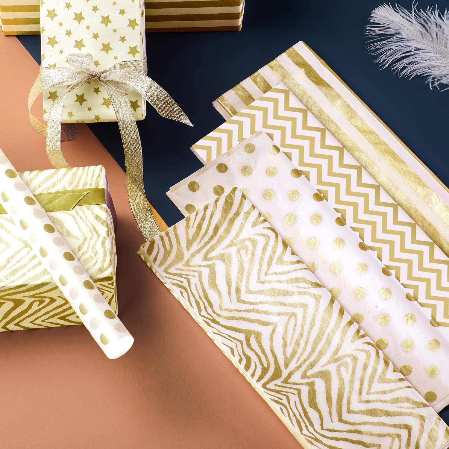 Free Amazon Promo Code 2020 for Gold Tissue Paper Gift Wrapping