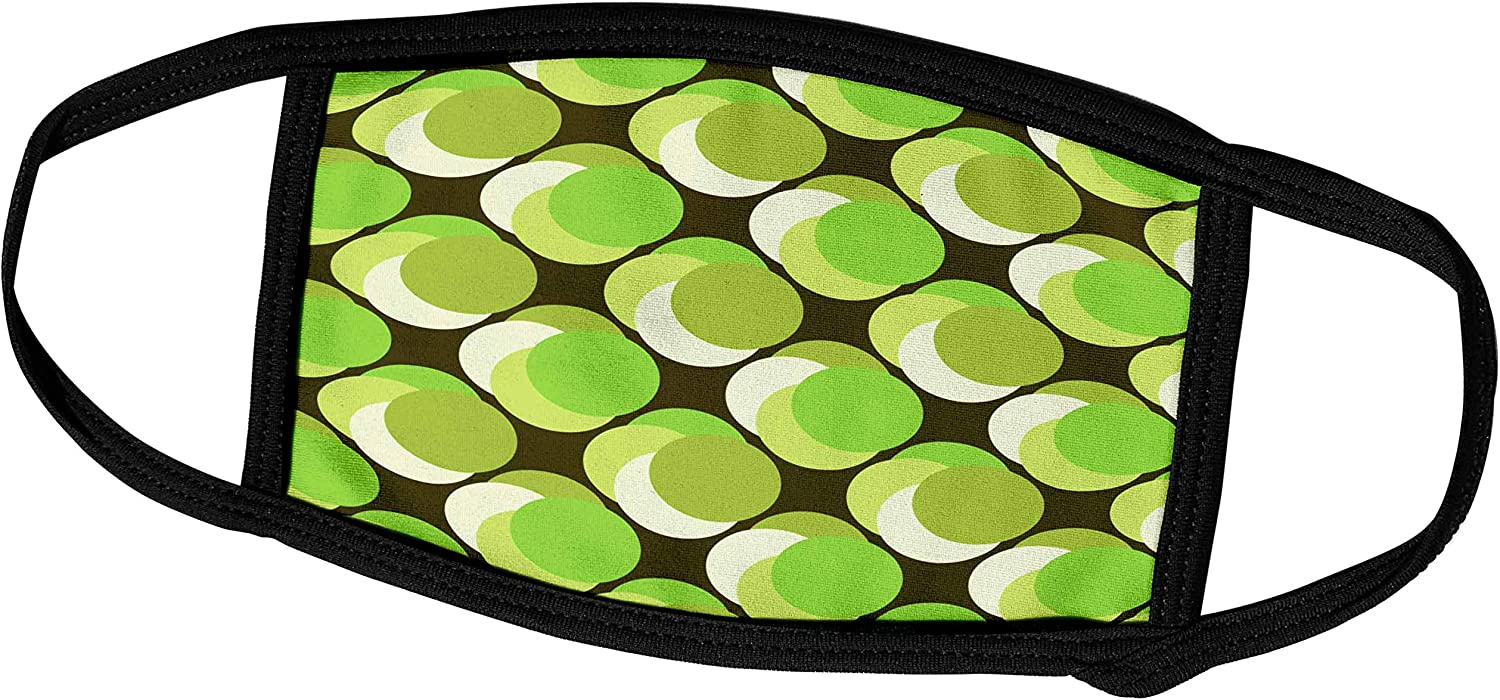 3dRose Polka Dots in Colors That Remind You of Granny Smith Apples. Key. - Face Covers (fc_110044_3)