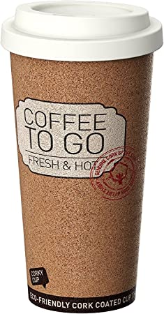 Life Story Corky Cup 16 oz Reusable Insulated Travel Mug Coffee Thermos (4 Pack)