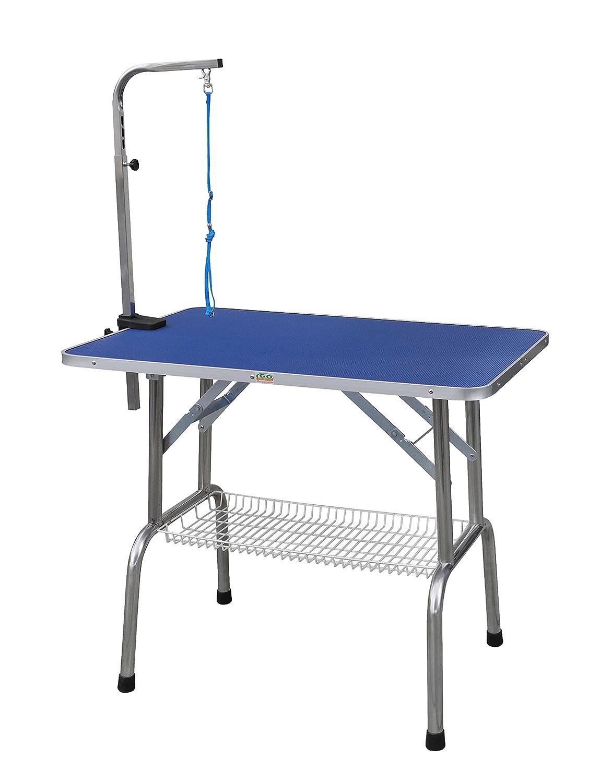 Go Pet Club schwere Edelstahl Stahl Fellpflege Tisch mit Arm, 91,4cm