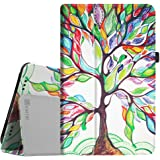 "For It UK 10.1"" with IPS Screen Case - Fintie Folio Fit Premium PU Leather Stand Cover with Stylus Holder for It UK 10.1 inch [with IPS Screen] Android Tablet, Love Tree"