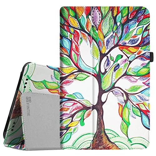 """For It UK 10.1"""" with IPS Screen Case - Fintie Folio Fit Premium PU Leather Stand Cover with Stylus Holder for It UK 10.1 inch [with IPS Screen] Android Tablet, Love Tree"""