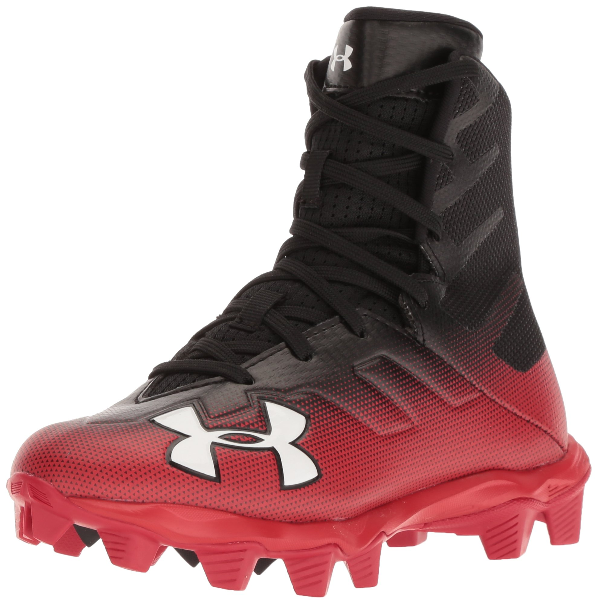 Under Armour Boys' Highlight RM Jr. Football Shoe, Black (003)/Red, 1