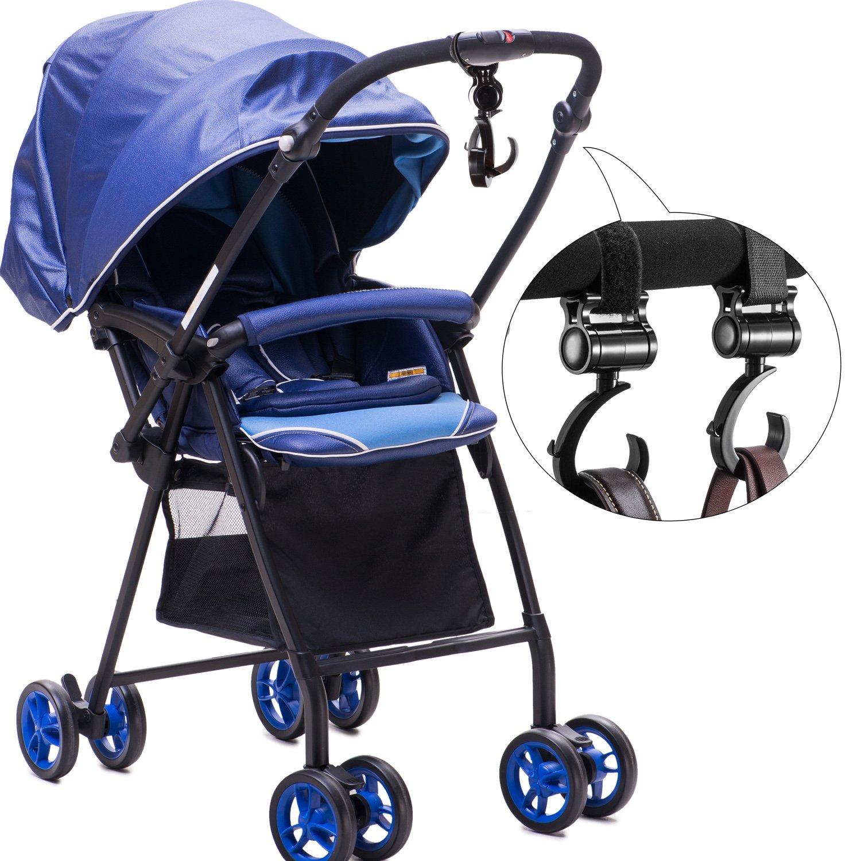 Stroller Clips Hooks Hanger Diaper Bags Hook for Baby Stroller Multipurpose for Grocery Bag Shopping Bags 4 Pack Stroller Hooks