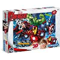 Clementoni Marvel Avengers 3D Glasses Puzzle Children's Jigsaw 104 Piece 6 Years