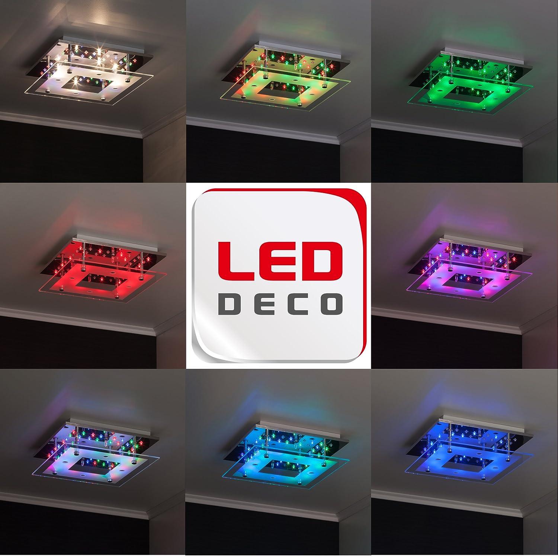 Brilliant Levke - Lampada da soffitto a 4 punti luce, con LED Deko ...