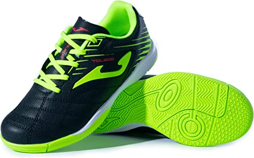 Joma indoor youth soccer shoes neon yellow