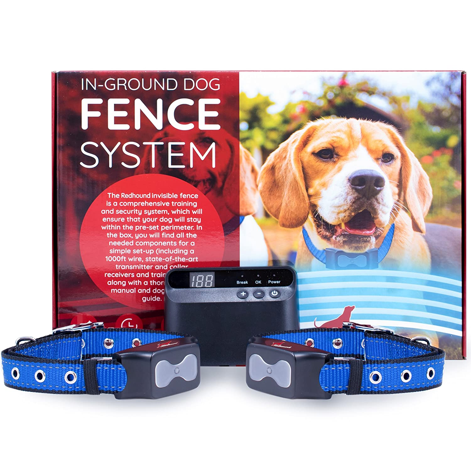 Electric Dog Fence Invisible Perimeter Prevents A Diagram To Wire For Pets Escaping Underground System Is Easy Set Up Maintain Suitable Dogs Big