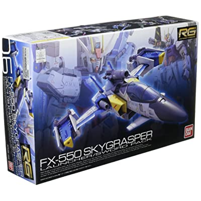 Bandai Hobby RG #6 Skygrasper with Launcher/Sword Pack Gudnam Seed Model Kit (1/144 Scale): Toys & Games