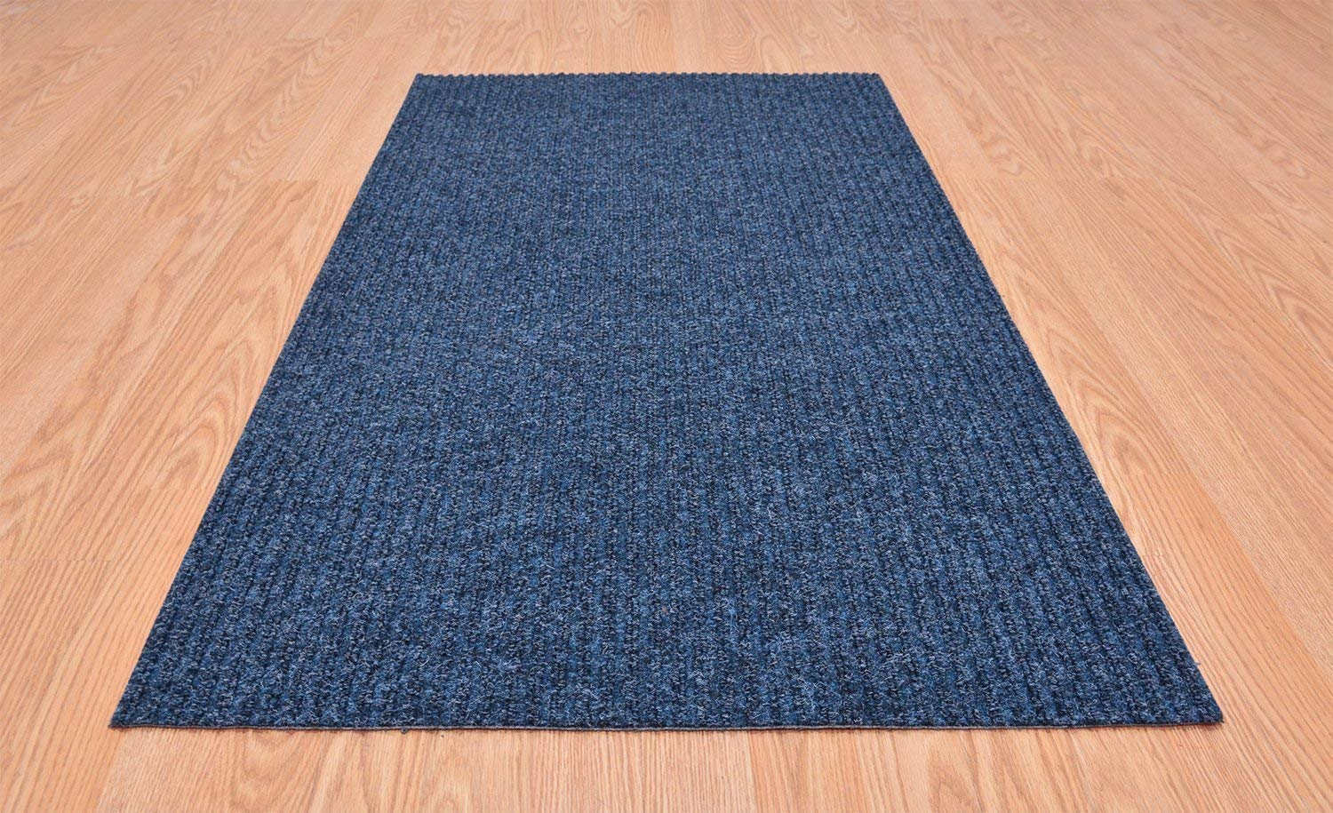 RugStylesOnline Tough Collection Custom Size Roll Runner Blue 27 in or 36 in Wide x Your Length Choice Slip Resistant Rubber Back Area Rugs and Runners (Blue, 27 in x 10 ft)
