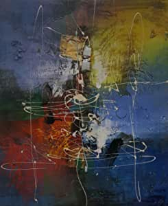 لوحة ملونة على قماش 60x50
