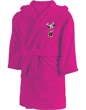 CTI 043754 Minnie - Albornoz de algodón para niña 2/4 años, Rosa