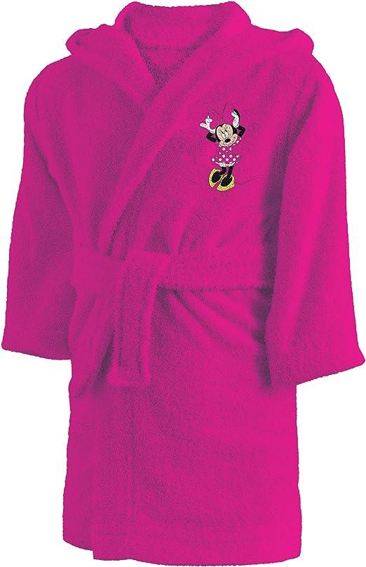 CTI 043754 Minnie - Albornoz de algodón para niña 2/4 años, Rosa: Amazon.es: Hogar