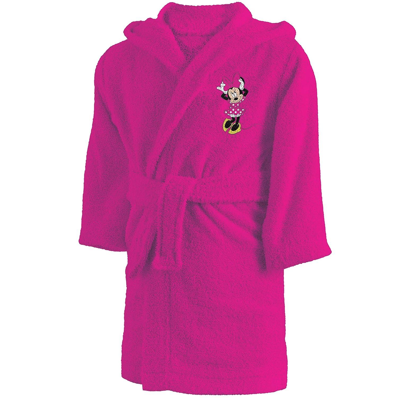 CTI 043755 - Accappatoio con Minnie, per bambini 6/8 anni, in cotone, colore: rosa per bambini 6/8anni