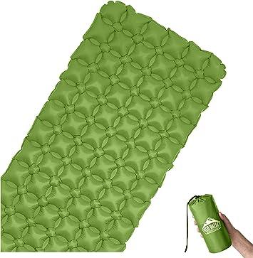 RedValley Colchoneta hinchable prémium de 195 cm, ultraligera, cómoda colchoneta de aire ideal para camping