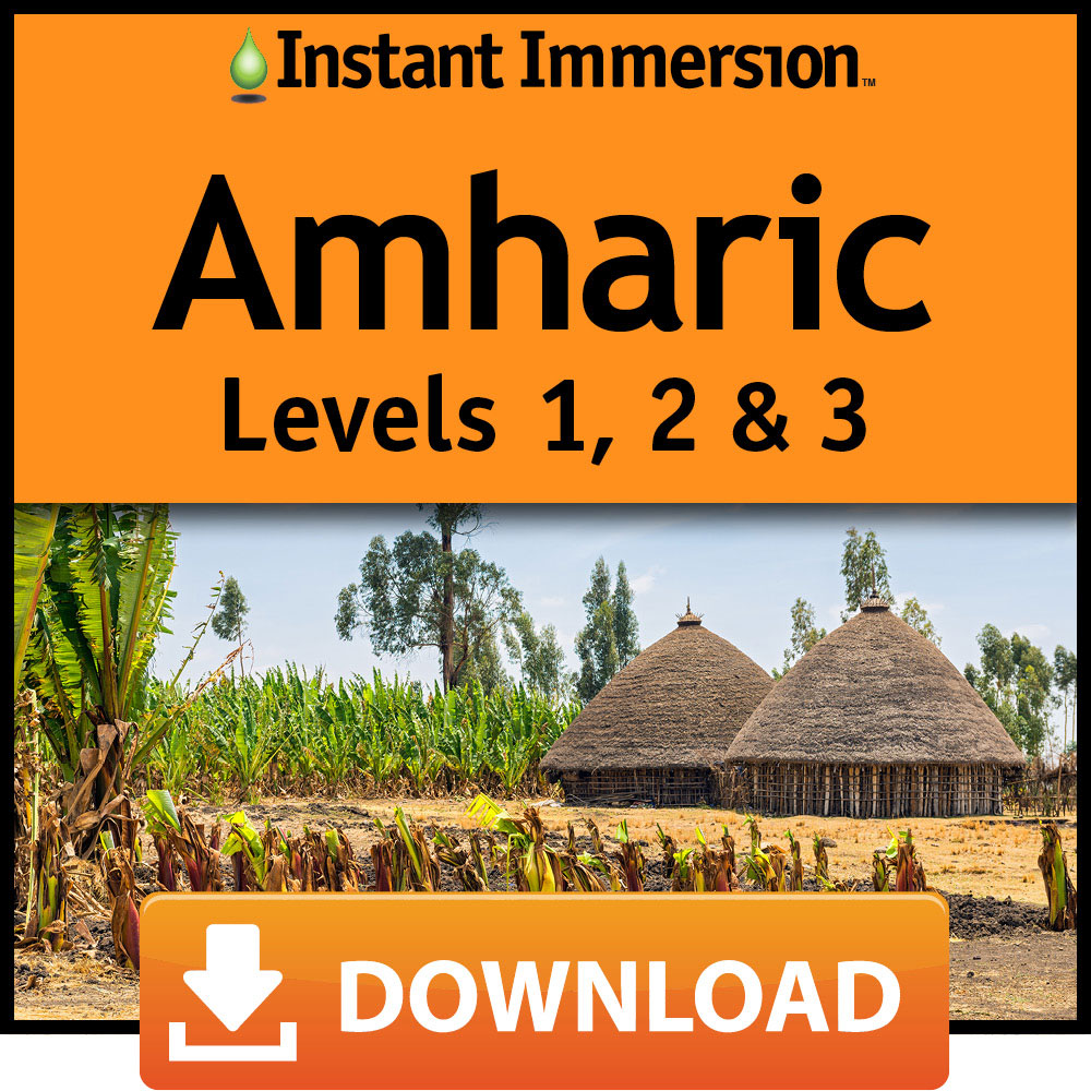 Instant Immersion Amharic Levels 1  2   3  Online Code