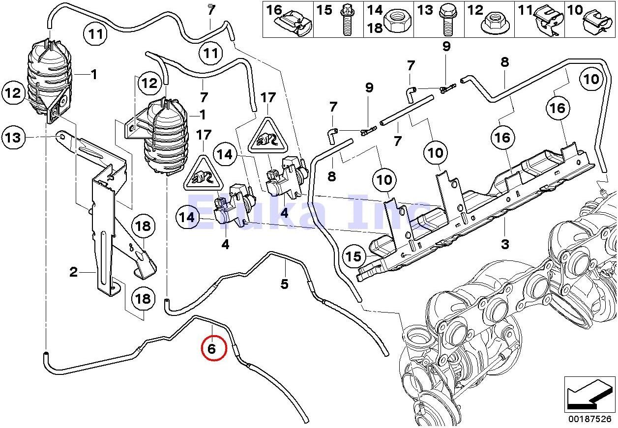 Amazon.com: BMW Genuine Reservoir To Wastegate Turbocharger Vacuum Line  Cylinders 1-3 Front 135i M Coupé 135i Z4 35i Z4 35is 335i 335xi 335i 335xi  335i 335xi 335is 335i 335is: AutomotiveAmazon.com
