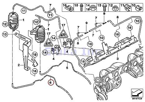 bmw genuine reservoir to wastegate turbocharger vacuum line cylinders 1-3  front 135i m coup�