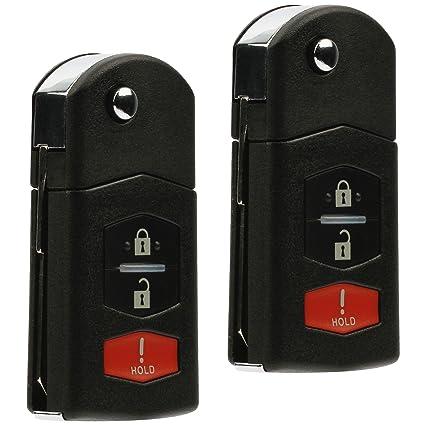 Car Flip Key Remote Keyless Entry Uncut For 2006 2007 2008 2009 2010 Mazda 5
