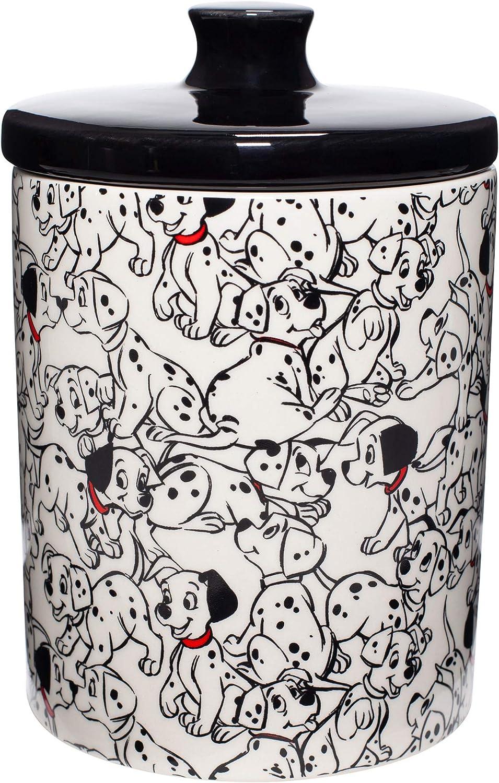 Enesco Disney Ceramics 101 Dalmatians Treat Canister Cookie Jar Multicolor 7.25 Inch