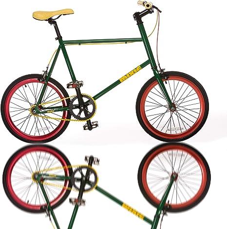 Fydelity MIXIE - Bicicleta recta de engranaje mixto para bicicleta Fixie – Marley | Engranaje fijo/buje de chancleta/colorido/Hip Hop bicicleta/BMX/ruedas pequeñas/compacta/plegable/estilo: Amazon.es: Deportes y aire libre