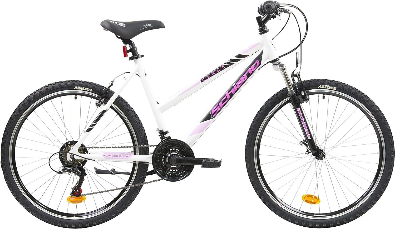 F.lli Schiano Range Bicicleta Montaña, Womens, Blanco-Rosa, 26 ...