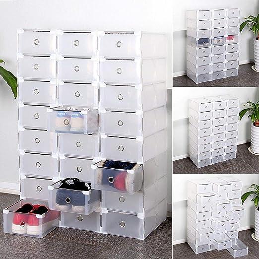 sweepid 24 x Zapatos cartón caja – Zapatero apilable Caja ...