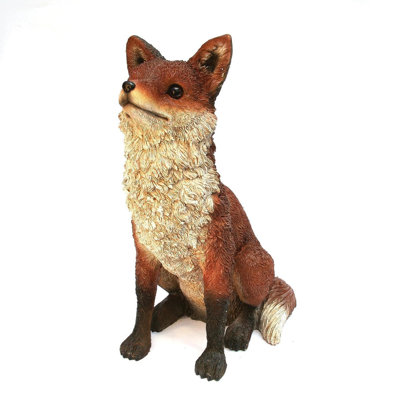 Amazon.com : Michael Carr 508007A Fox, Large : Fox Garden Statue : Garden U0026  Outdoor