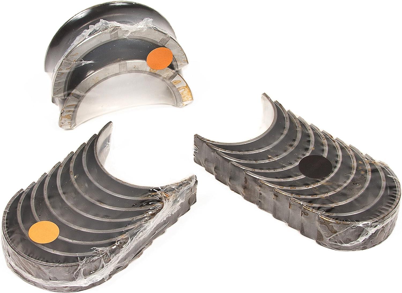 Oversize 0.25mm = 0.010 Evergreen MRB2747//1//1 Compatible With 90-04 2.4L Nissan 240SX Altima KA24E KA24DE SOHC DOHC Crankshaft Main Bearings Connecting Rod Bearings