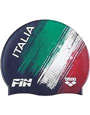 Arena Silicone cap Fin Italia Cuffia, Navy White, Taglia Unica