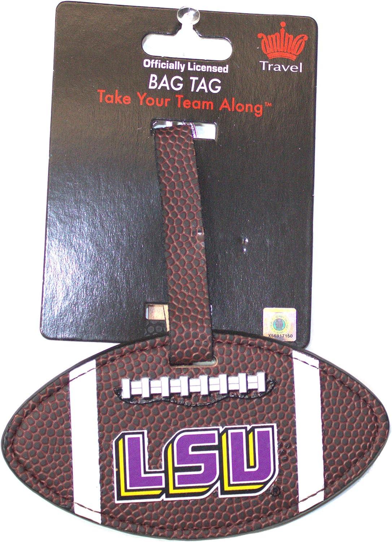 aminco NCAA LSU Tigers Football Material Bag Tag