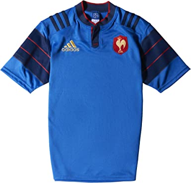 Patria Personas mayores dar a entender  adidas Performance Men's France Home Replica Team Rugby Jersey:  Amazon.co.uk: Clothing