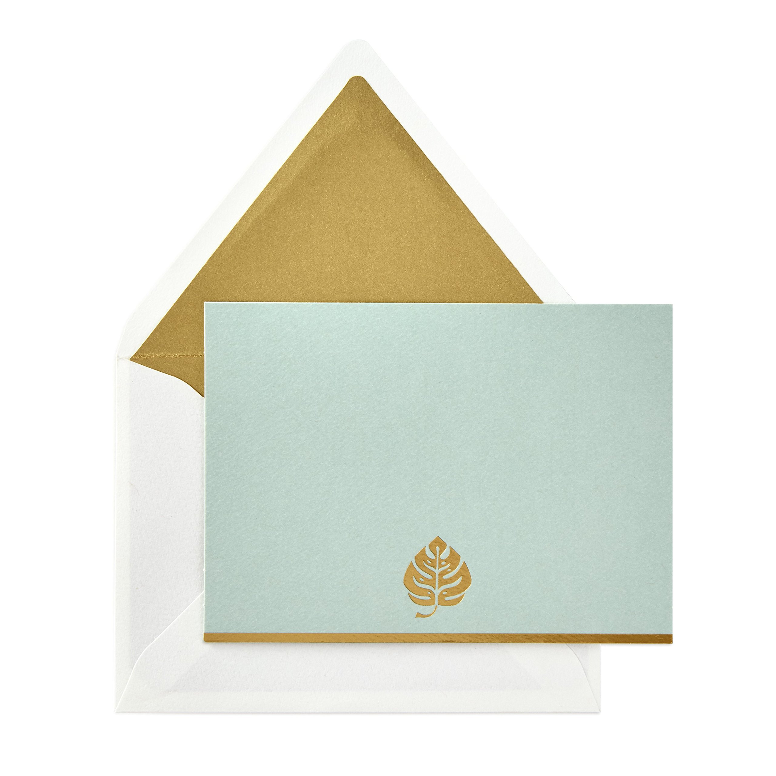 Hallmark Signature Gold Blank Cards, Monstera Leaf (10 Cards with Envelopes)