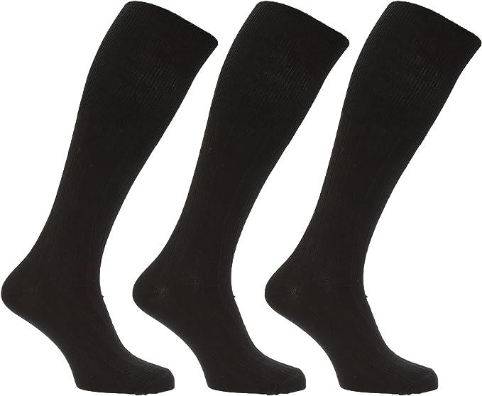 3 pairs mens lambwool blend long socks