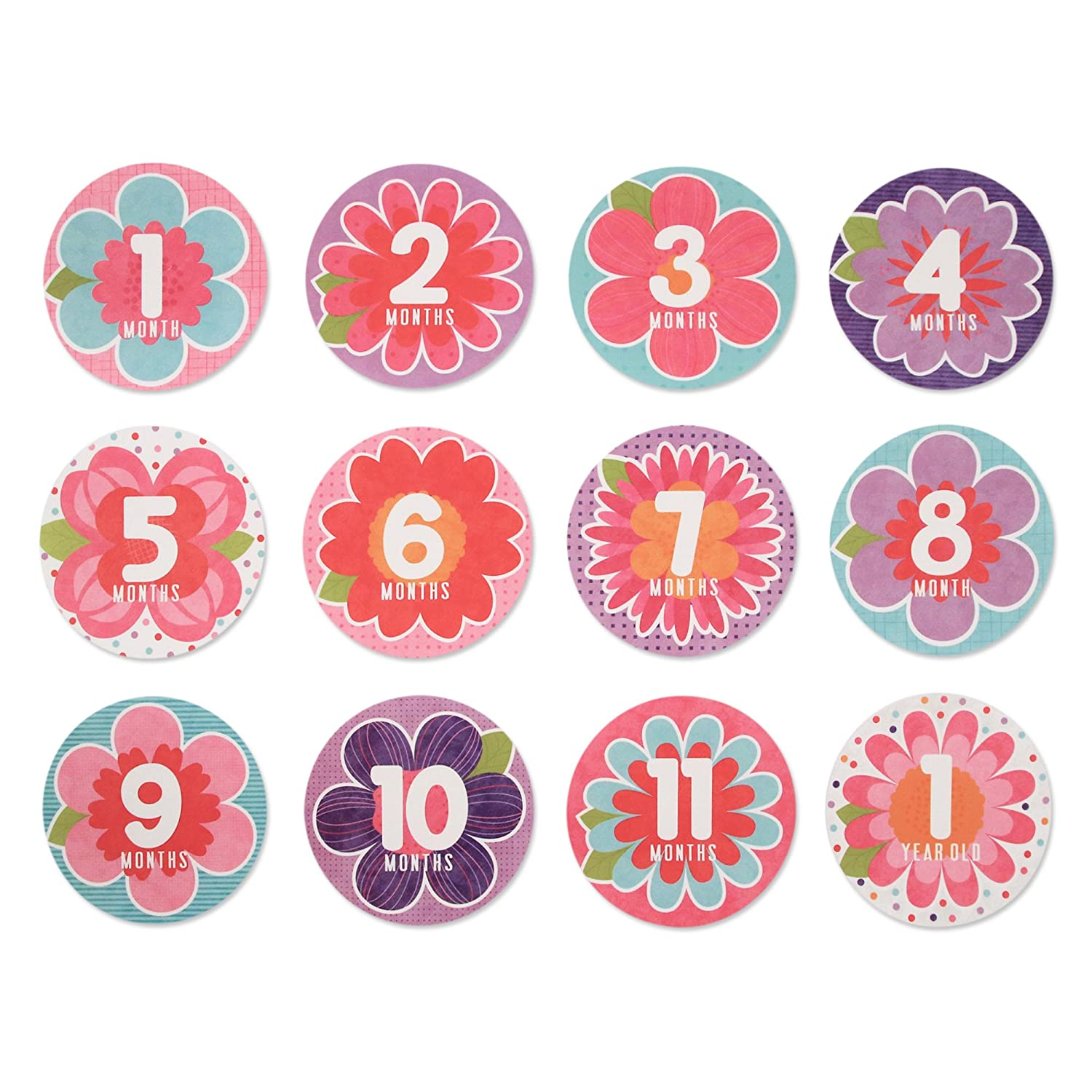 Rising Star Baby Girls Milestone Belly Stickers Gift Set