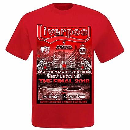 a6b977658 Liverpool Unisex vs Real Madrid 2018 Champions League Final T-Shirt (Kids  Age (