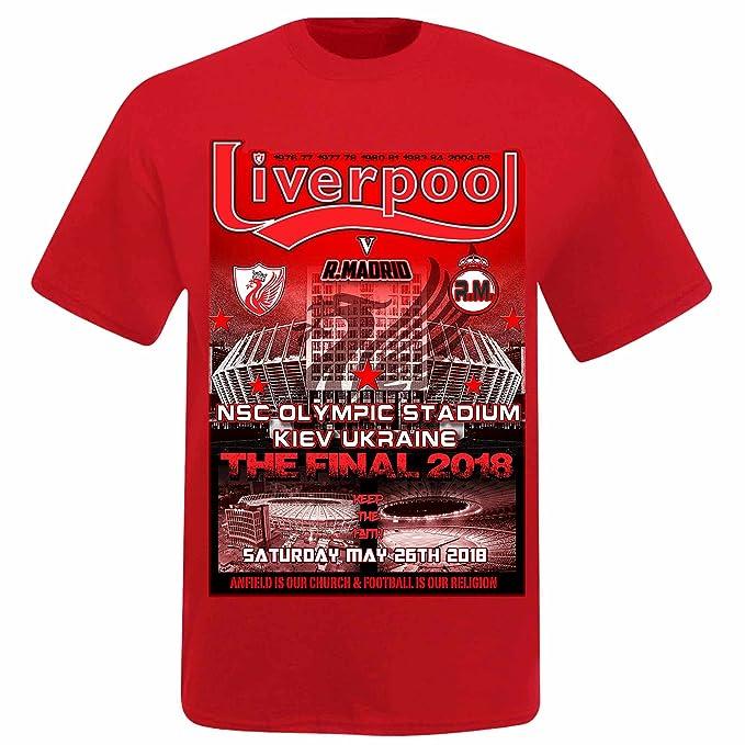 1c3d5bce9 Unisex Real Madrid vs Liverpool 2018 Champions League Final T-Shirt   Amazon.co.uk  Sports   Outdoors