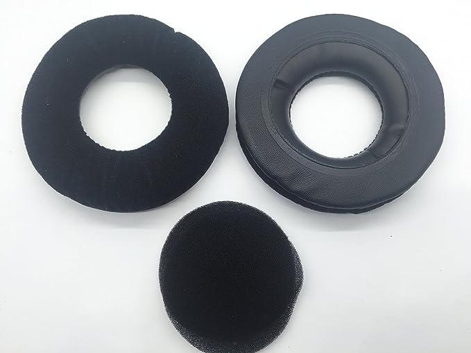 1/Paire de Coussinets de Rechange pour Mdr-rf865r Mdr-rf865rk Casque Noir