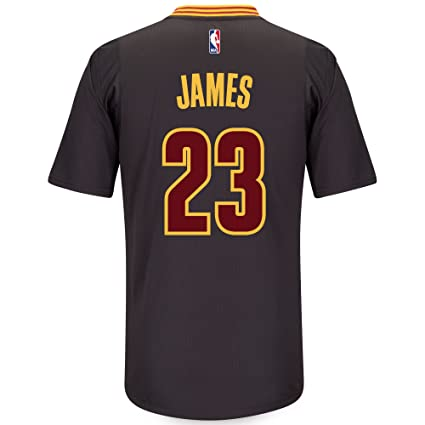 sale retailer 1ee31 7bad1 adidas Lebron James Cleveland Cavaliers Swingman Black Short Sleeve Jersey