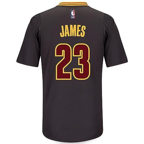 sale retailer 7ccac 23a41 adidas Lebron James Cleveland Cavaliers Swingman Black Short Sleeve Jersey