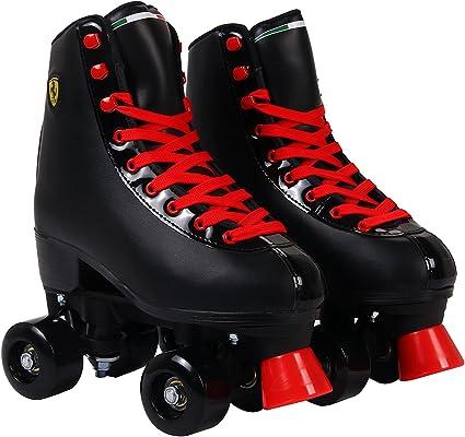 Amazon Com Ferrari Classic Roller Skates Black Sports Outdoors