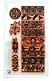 Native American Pattern Ornament Border Clear Stamps Set