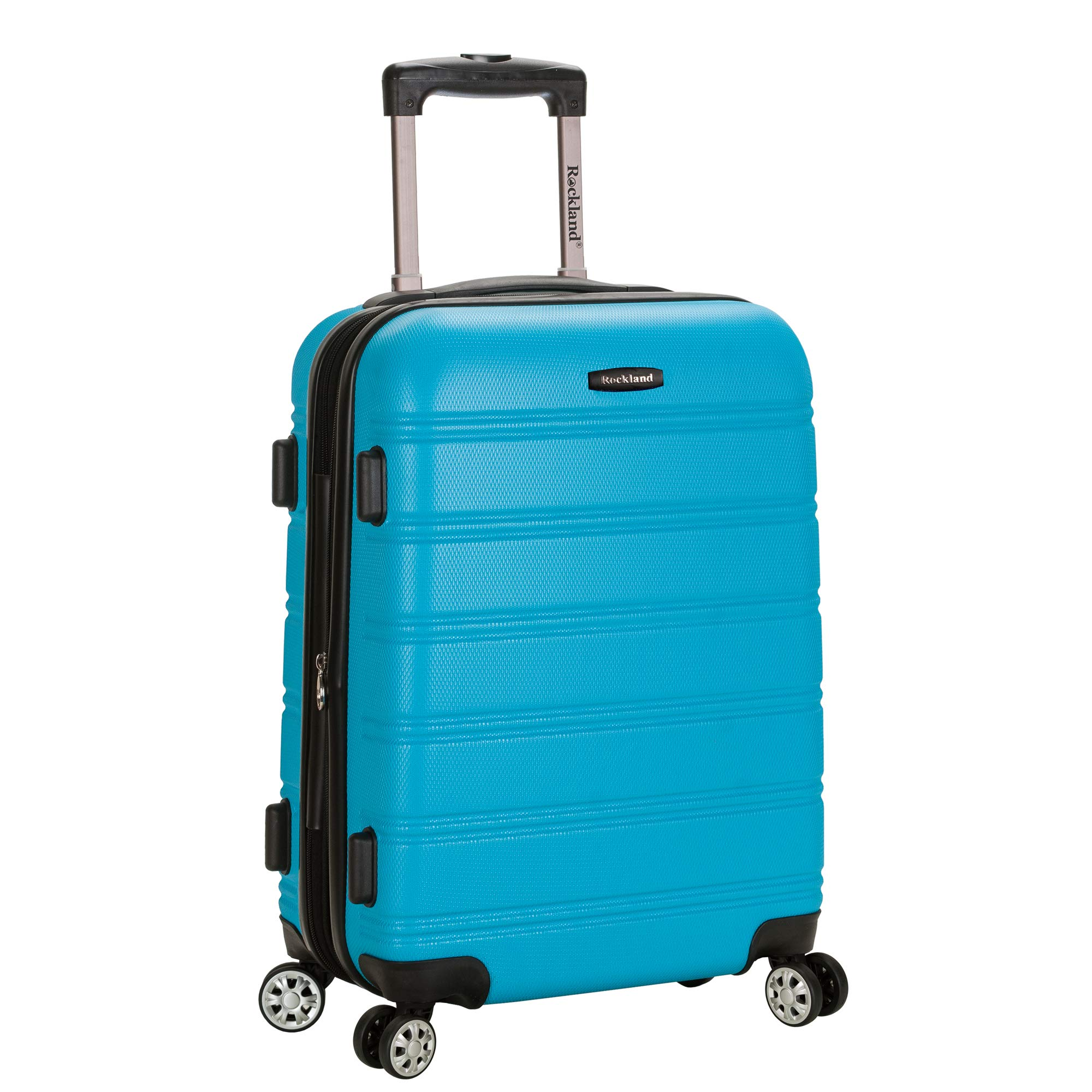 Rockland Luggage Melbourne 20 Inch Expandable Carry On, Turquoise, One Size by Rockland