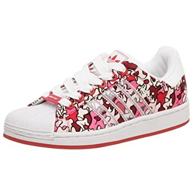 Adidas Superstar II Adicolor White Pink Red Womens Canvas Trainers Size 4.5  New  Amazon.co.uk  Shoes   Bags beac06310