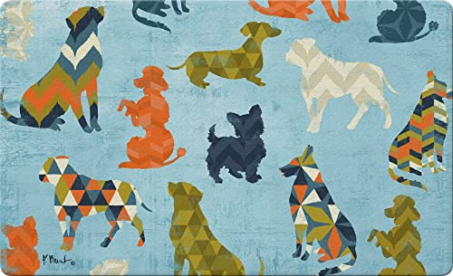 Toland Home Garden 830319 Dog Pattern 18 x 30 Recycled Mat, USA Produced