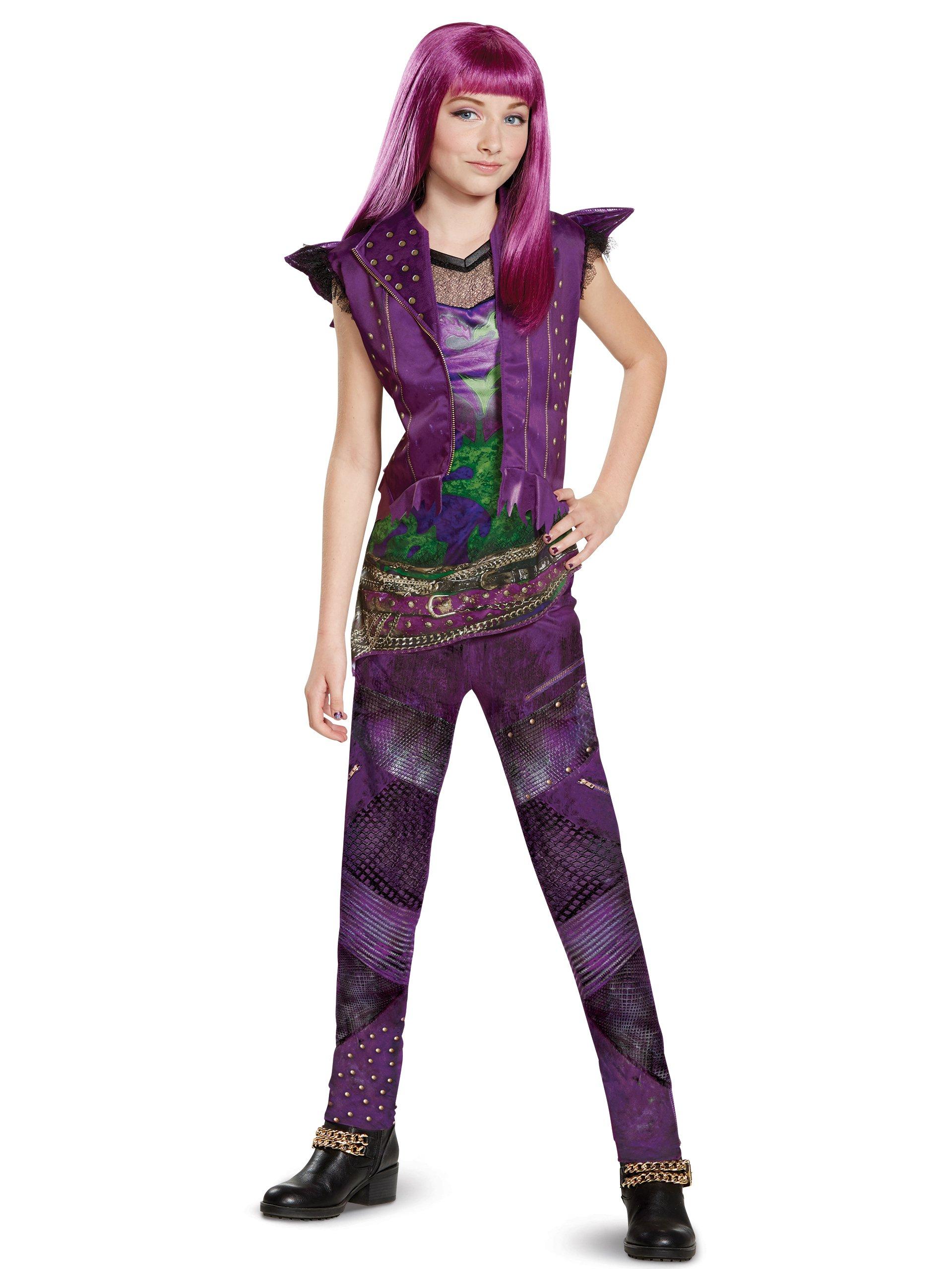 Disguise Mal Classic Descendants 2 Costume, Purple, Small (4-6X)