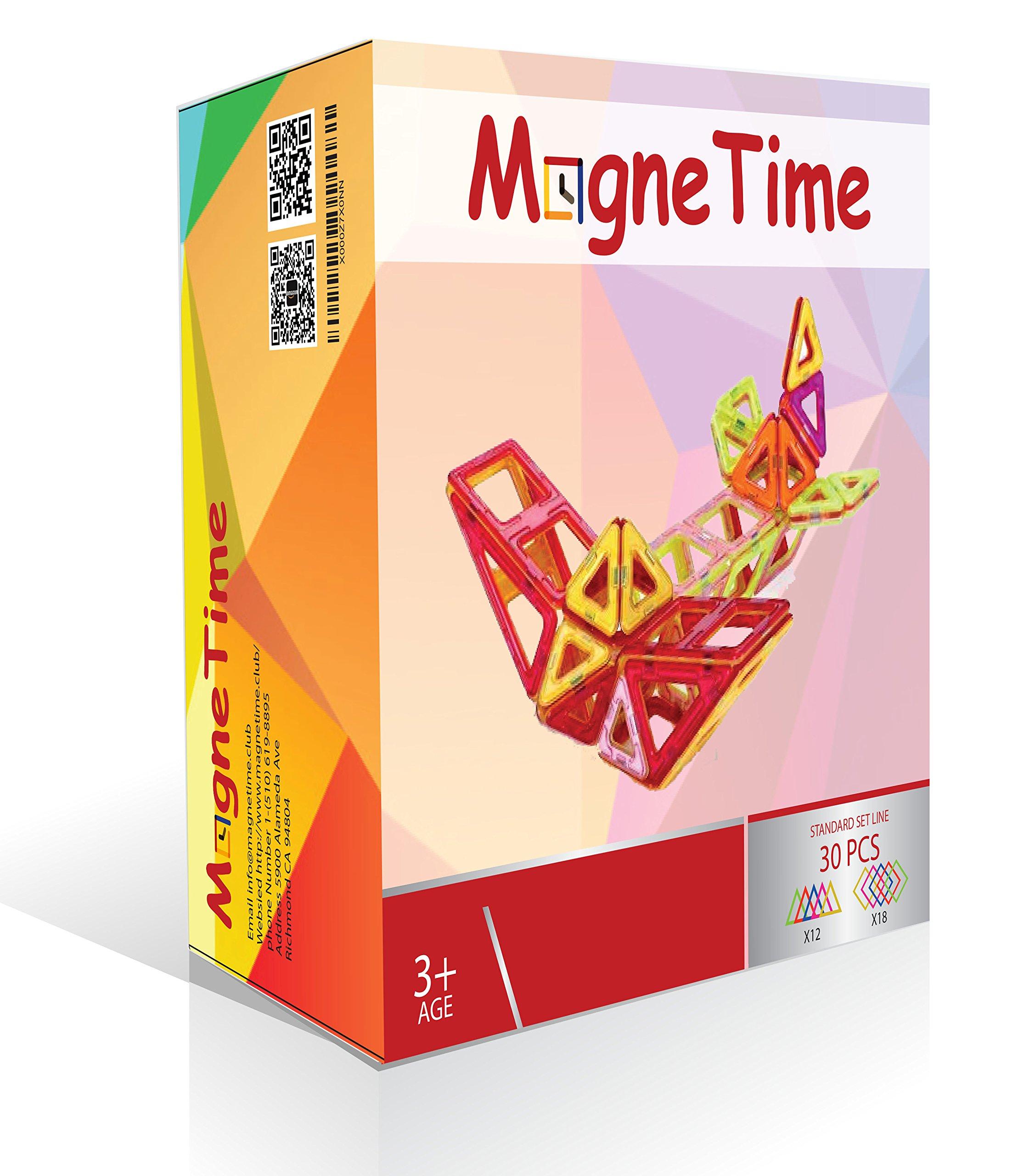 Magnetime Club Explore&Develop With Magnetic Blocks Building(Rainbow Colors 3.. 16